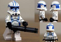 Clone Trooper Hardcase Lego Custom Clones, Lego Clones, Lego Custom Minifigures, Lego Minifigs, Star Wars Clone Wars, Lego Star Wars, Custom Lego Clone Troopers, Lego Activities, Star Wars Facts