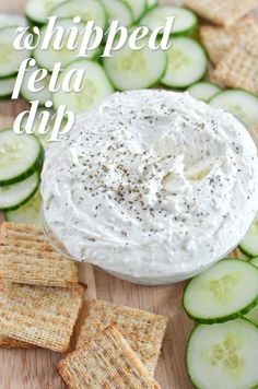 whipped feta dip | simplywhisked.com | dip, appetizer