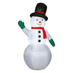 7 ft. Airblown Waving Snowman,