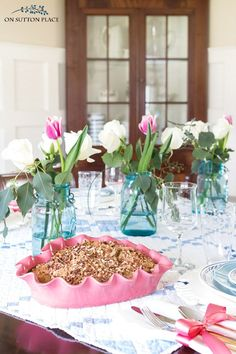 Use these farmhouse inspired Valentine's Day tablescape ideas to celebrate the day with family or friends. Easy & inexpensive ideas to use year-round.