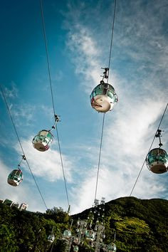 The countless times I rode the cable cars at Ocean Park, Hong Kong. Places Around The World, Oh The Places You'll Go, Travel Around The World, Great Places, Places To Travel, Places To Visit, Around The Worlds, Shanghai, Hong Kong