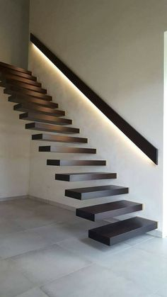 Staircase Design Modern, Home Stairs Design, Interior Stairs, Modern House Design, Floating Stairs, House Stairs, Shop Interior Design, Future, Room