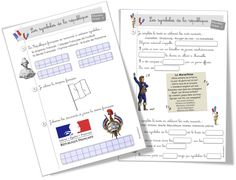 Les symboles de la République. Storming The Bastille, French Classroom, French History, Cycle 3, Reading Lessons, French Lessons, Bullet Journal, Science