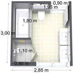 bathroom floor plan