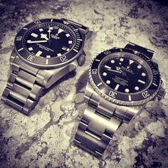 Relatives #watchesofinstagram #rolex #submariner #tudor #pelagos #siblings by docmcqueen #rolex #submariner