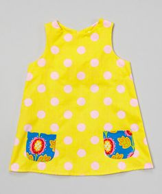 Loving this Yellow Polka Dot Swing Dress - Infant & Toddler on #zulily! #zulilyfinds