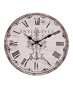 Antiques Decorative Arts Collectible Decorated Old Style Wall Clock Mechanical Wall Clock Chrome Distinctive For Its Traditional Properties