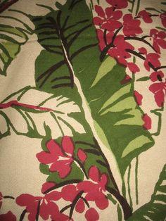 21 Best Vintage Floral Barkcloth Fabrics Images Vintage