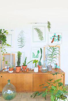 Plants & Art in my atelier by Judith de Graaff