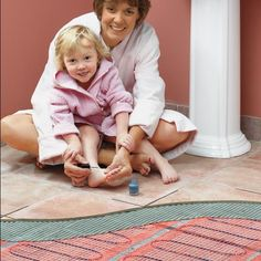 install electric radiant heat mat under a tile floor | radiant