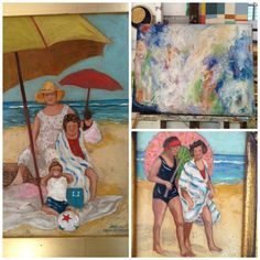New paintings by one of our featured artists, Alyce Quackenbush!   Come and see our other artistic offerings in person; we're open 10:30am to 5:30pm daily. ~#art #lajolla #painting #original #instaart #sandiego #shopping #girardavenuecollection #beach #homedecor  #girardavecollection~