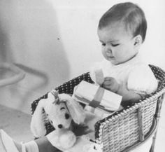Grace & Family-Princes Caroline, Grace and Rainier's daughter, is one year old. Monaco, January 23, 1958.