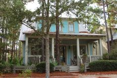 House of Turquoise: Turquoise Houses of WaterColor, Florida