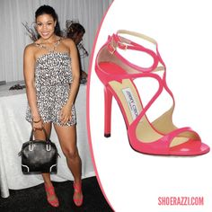"Jimmy Choo's ""Lance"" sandals as worn by Jordin Sparks"