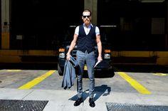 mario villanueva style: Justin O Shea NYFW Justin O'shea, Fashion Art, Mens Fashion, Dapper Men, Office Wear, Street Wear, Women Wear, Normcore, Handsome
