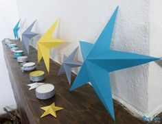 super diy pour des étoiles 3d - blog loisirs créatifs http://www.com2filles.com