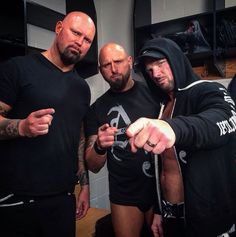 Too much awesome in this picture with Luke gallows, the machinegun Karl Anderson and Aj styles