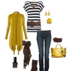 loving the navy and mustard!