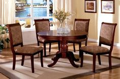 Inland Empire Furniture Saint Nicholas Cherry Solid Wood Round 5 Piece Dining Set by Inland Empire Furniture. $1056.00. Brand New Direct from the manufacturer!. Requires Assembly. Model #: FA3224RT Dining Set Only Package Includes: 1 x Table, 4 x Chairs