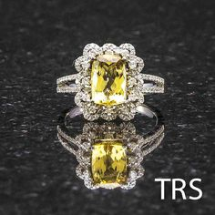 Absolute Elegance 3.07 Carats of Yellow Topaz and by TRSJewelry