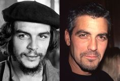 Che Guevara - George Clooney (Images of Che Guevara and George Clooney provided by Getty Images) (Time & Life Pictures/Getty Image)