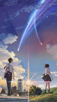 Your Name (Japanese: 君の名は。 Hepburn: Kimi no Na wa.) (commonly stylized as your name.) is a 2016 Japanese anime romantic fantasy drama film directed, written, cinematographed, and edited by Makoto Shinkai Watch Your Name, Your Name Movie, Your Name Anime, Manga Anime, Film Anime, Fanarts Anime, Anime Expo, Ghibli, Your Name 2016