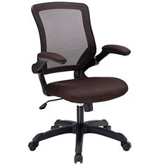 Modway Veer Office Chair with Mesh Back and Brown Vinyl Seat With Flip-Up Arms   Ergonomic Desk And Computer Chair For Sale https://bestofficedeskchairsreviews.info/modway-veer-office-chair-with-mesh-back-and-brown-vinyl-seat-with-flip-up-arms-ergonomic-desk-and-computer-chair-for-sale/