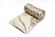 Silk Block Printed Quilt from Vintage Handicrafts