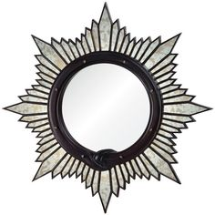 Charlize Global Bazaar Oxblood Sunburst Mirror ❤ liked on Polyvore featuring home, home decor, mirrors, sun burst mirror, sunburst mirrors and sun shaped mirror