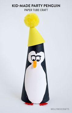 Kid-Made:  Paper Tube Penguin Craft