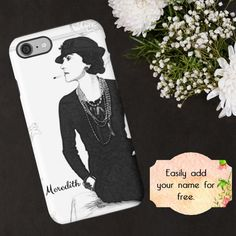 Coco Chanel Phone Case Chanel iPhone Case Coco by ChezLorraines