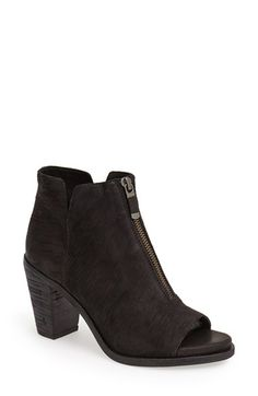 Eileen Fisher 'Clique' Open Toe Leather Bootie (Women) available at #Nordstrom