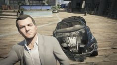 """If you survive a 5-Star police chase, your car will probably look like this. 