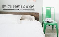 Hey, I found this really awesome Etsy listing at https://www.etsy.com/listing/165177021/love-you-forever-and-always-wall-decal
