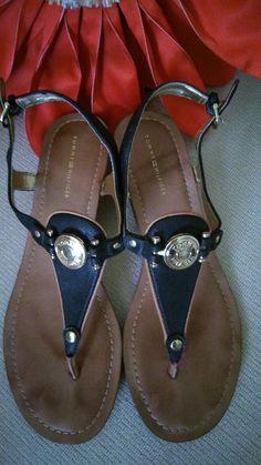 b0ef869011269 TOMMY HILFIGER T-strap sandal in black