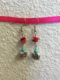Handmade Beaded Earrings by cemFLORAL on Etsy