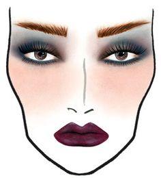 ダークカラーのリップで魅力的な唇に❤︎ダークなフェイスチャート❤︎