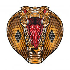 King Cobra Tattoo, Tribal Tiger, Cobra Art, Yin Yang Tattoos, Black Girl Cartoon, Snake Art, Arte Obscura, Animal Masks, Snake Tattoo