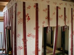 Heian era copy sleeping area or room  Image result for heian partition curtain
