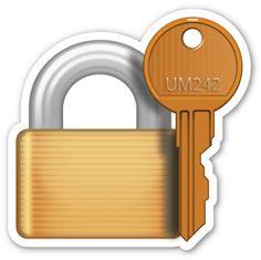 Closed Lock with Key | EmojiStickers.com