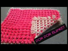 Pom pom blanket. I'm at it again.. Excellent way to get lots of Pom poms at once on a loom - YouTube