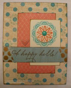 The Inky Scrapper: February Stamp of the Month Blog Hop: A Happy Hello #Seaside #MakeItFromYourHeartVol2