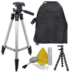 EXTREME FUN Camera Accessory Kit for Kodak Pixpro S1 Bundle Includes Back Pack  50 Elite Tripod  Camera Cleaning  Maintenance Equipment  8 BendiPod Shop Smart -- Continue to the product at the image link.