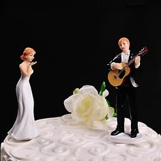 Playing Guitar Cake Topper – USD $ 22.99