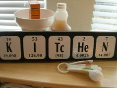 Kitchen sign Periodic Table of Elements Fun by TheElegantWall