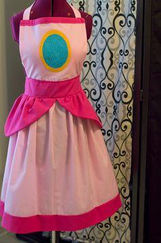 Super Mario Bros Princess Peach Apron by MoonlightCrisis on Etsy, $40.00