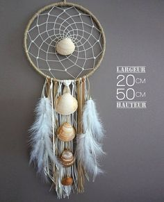 Dream catcher spirit sea shells