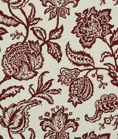 Robert Allen @ Home Jacobean Toss Poppy Fabric - $19.6 | onlinefabricstore.net