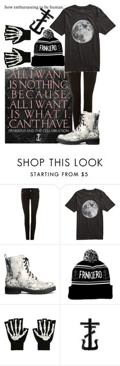"""""""Frnkiero andthe Cellabration"""" by biter-sweet ❤ liked on Polyvore featuring Paul Frank, True Religion, Freedom Artists and H&M"""