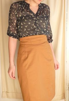 Pencil skirt pattern (vogue) that works for curvey body types